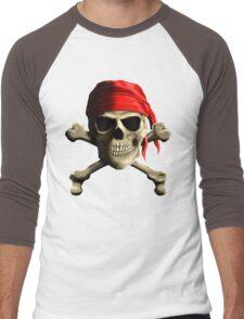 Skull And Crossbones Men's Baseball ¾ T-Shirt