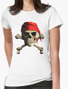Skull And Crossbones Womens Fitted T-Shirt