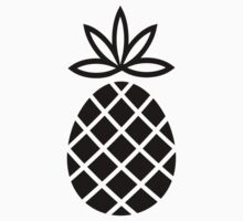 Black and white pineapple One Piece - Short Sleeve