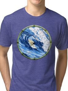 Surfing The Pipe Tri-blend T-Shirt