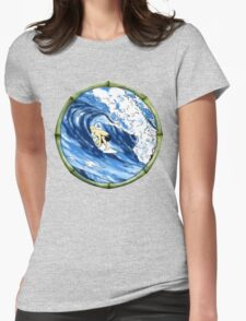 Surfing The Pipe Womens Fitted T-Shirt