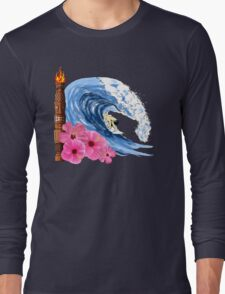 Hawaiian Surfing Long Sleeve T-Shirt