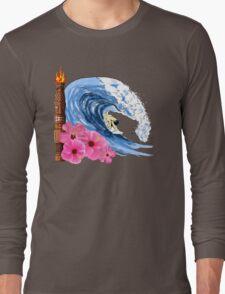 Hawaiian Surfing Long Sleeve T-Shirt
