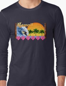 Hawaii Surf Long Sleeve T-Shirt