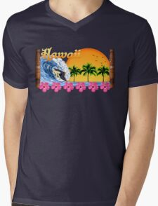 Hawaii Surf Mens V-Neck T-Shirt