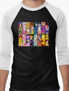 80s Girls Totally Radical Cartoon Spectacular!!! - WOMEN OF ACTION EDITION! Men's Baseball ¾ T-Shirt