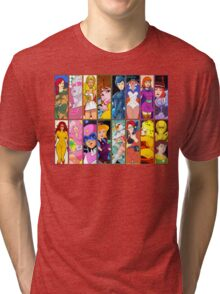 80s Girls Totally Radical Cartoon Spectacular!!! - WOMEN OF ACTION EDITION! Tri-blend T-Shirt