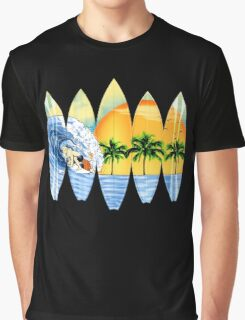 Surfer And Surfboards Graphic T-Shirt