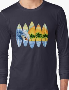 Surfer And Surfboards Long Sleeve T-Shirt