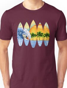 Surfer And Surfboards Unisex T-Shirt