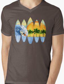 Surfer And Surfboards Mens V-Neck T-Shirt