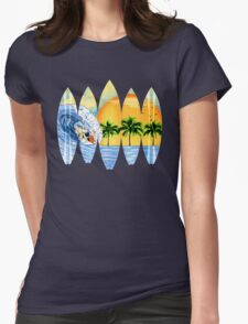 Surfer And Surfboards Womens Fitted T-Shirt