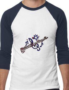 Cool Fun Clarinet Tribal Art Style Original Men's Baseball ¾ T-Shirt