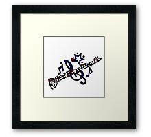 Cool Fun Clarinet Tribal Art Style Original Framed Print