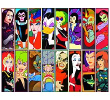 80s Girls Totally Radical Cartoon Spectacular!!! - BAD GIRLS EDITION! Photographic Print
