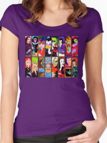 80s Girls Totally Radical Cartoon Spectacular!!! - BAD GIRLS EDITION! Women's Fitted Scoop T-Shirt
