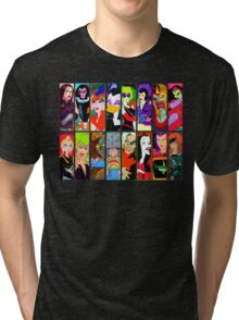 80s Girls Totally Radical Cartoon Spectacular!!! - BAD GIRLS EDITION! Tri-blend T-Shirt