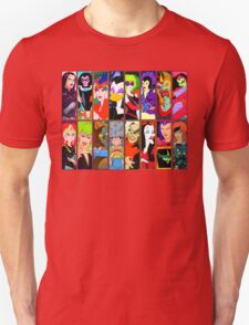 80s Girls Totally Radical Cartoon Spectacular!!! - BAD GIRLS EDITION! T-Shirt