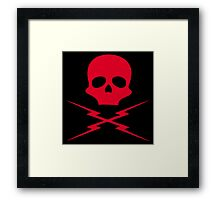 Death Proof, Red Label! Framed Print