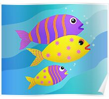Fish Family Poster