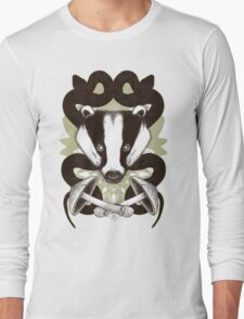 Badgering the snakes in the mushrooms Long Sleeve T-Shirt