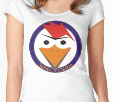 Sadistic Chicken roundel Women's Fitted Scoop T-Shirt
