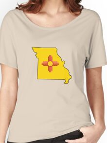 New Mexico flag Missouri outline Women's Relaxed Fit T-Shirt