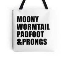 Moony, Wormtail, Padfoot & Prongs Tote Bag