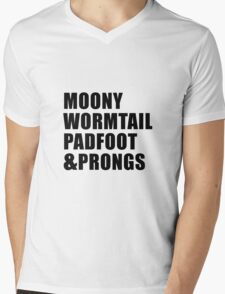 Moony, Wormtail, Padfoot & Prongs Mens V-Neck T-Shirt