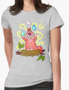 Easter Mischief - the egg-crobat Womens Fitted T-Shirt