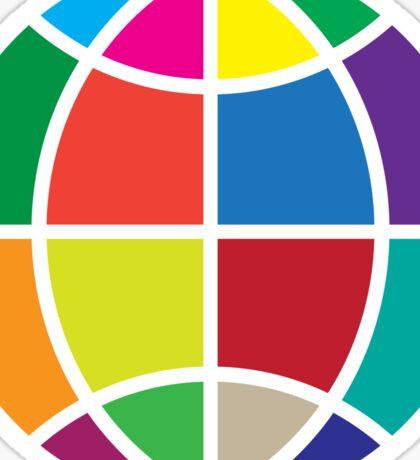 Colors Globe Sticker