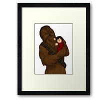 Chewie and baby Ben Framed Print