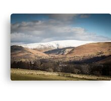 Snow-capped mountains in English Lake District Canvas Print