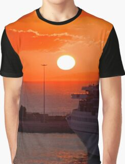Sunrise over Heraklion Harbour Graphic T-Shirt