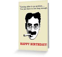 GROUCHO MARX BIRTHDAY CARD Greeting Card