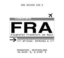 FRA Flughafen Frankfurt am Main Photographic Print