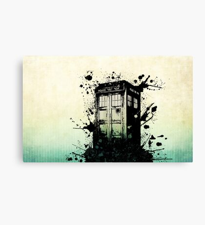 Doctor Who Work Tardi Canvas Print