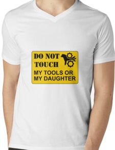 Do Not Touch Daughter Mens V-Neck T-Shirt