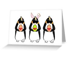 Easter Bunny-Penguin Greeting Card