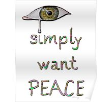 I simply want peace - Version 2 Poster