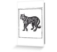 Graphic Cheetah Greeting Card