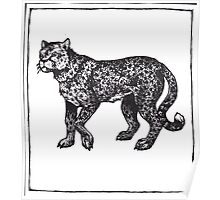 Graphic Cheetah Poster