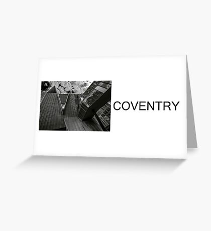 brutalist COVENTRY Greeting Card