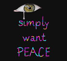I simply want peace - Version 4 Women's Fitted V-Neck T-Shirt
