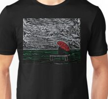 Sea Woodcut Unisex T-Shirt