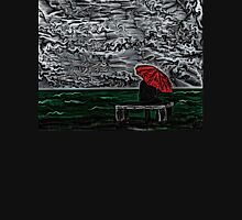 Sea Woodcut Unisex T-Shirt