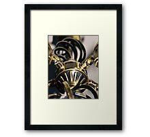 STEAMPUNK ABSTRACT BRASS METALWORK Framed Print