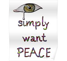 I simply want peace - Version 8 Poster