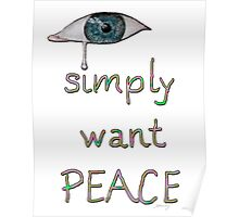 I simply want peace - Version 10 Poster