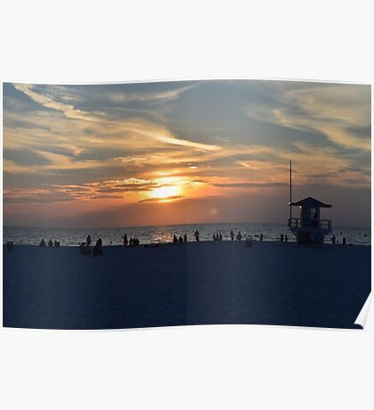 Clearwater Sunset Poster